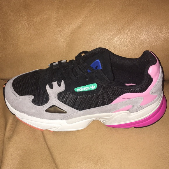 best authentic 68e68 ee209 Adidas Falcon W Core Black   Light Granite